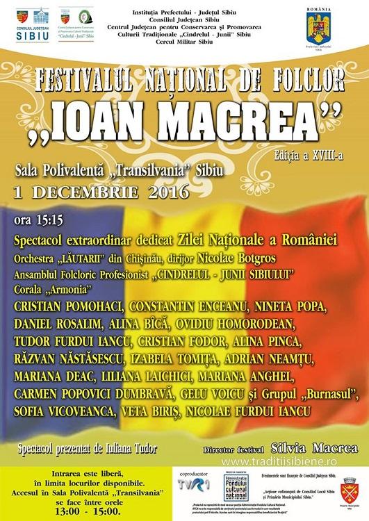 Ioan Macrea 1 Decembrie