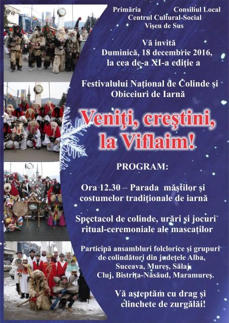Festivalul National de colinde si obiceiuri de iarna Veniti, crestini, la Viflaim!