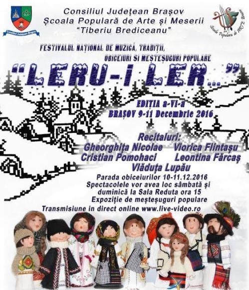 Festivalului national de muzica si mestesuguri populare Leru-i ler
