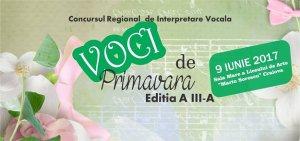 """Concursului Regional de interpretare vocală """"Voci de primăvară"""""""