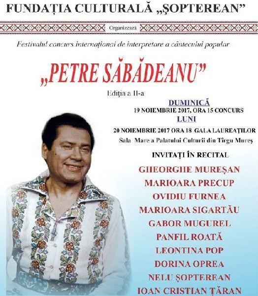 """Festivalul """"Petre Sabadeanu"""" a devenit international"""
