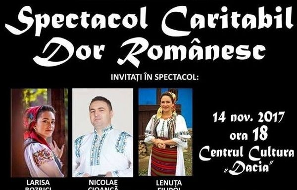 "Spectacol caritabil ""Dor Romanesc"" la Bistrita"