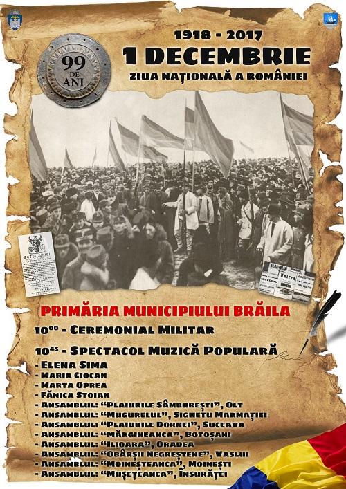 Ziua Nationala a Romaniei - Braila 2017