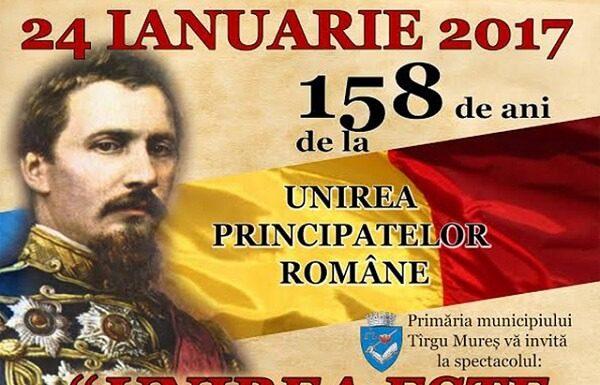 Spectacol Unirea este Romania la Targul Mures