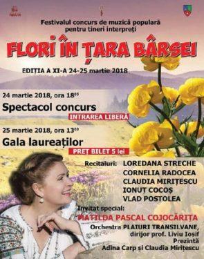 Festivalul de Muzica Populara - Flori in Tara Barsei 2018