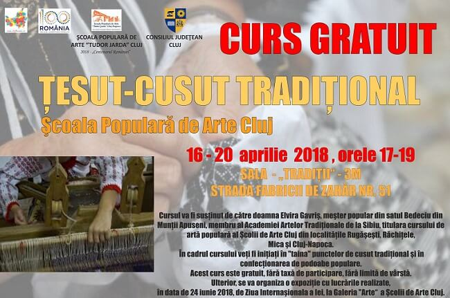 Curs de Tesut - Cusut Traditional - Școala de Arte Cluj