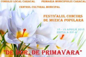 Festivalul - De Dor de Primavara 2018