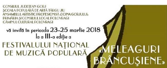 """Festivalul National de Muzica Populara """"Meleaguri Brancusiene"""""""