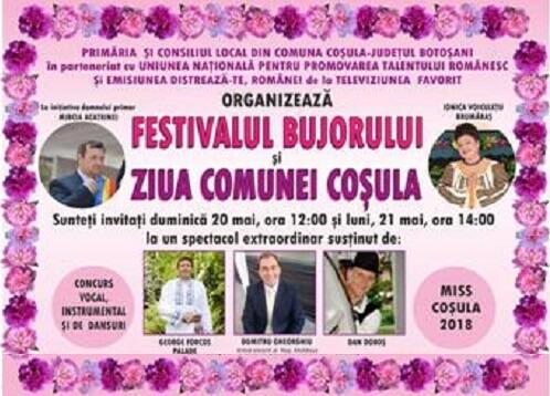 """""""Festivalul Bujorului"""" la Cosula 2018"""