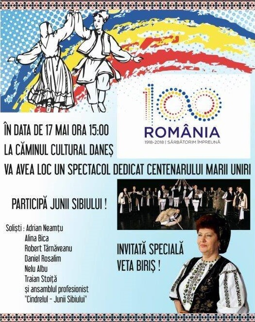 Spectacol dedicat Centenarului Marii Uniri -comuna Danes judetul Mures