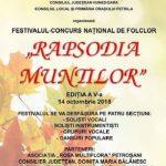 """Festivalul de Folclor """"Rapsodia Muntilor"""" 2018"""