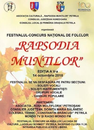 """Festivalul de Folclor """"Rapsodia Munților"""" 2018"""