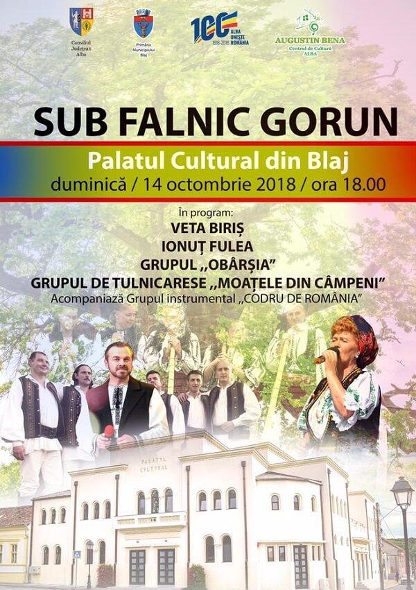 Sub Falnic Gorun - spectacol de excepție la Blaj