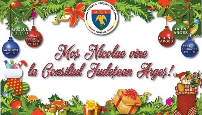 Mos Nicolae vine la Consiliul Judetean Arges 2018