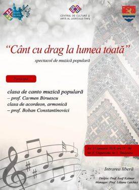 Spectacol folcloric - Cant cu drag la lumea toata 2019