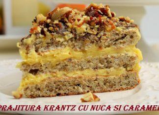 Prajitura Krantz cu nuca si caramel