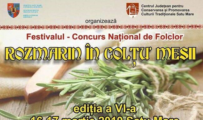 Festivalul Folcloric Rozmarin in coltu' mesii 2019