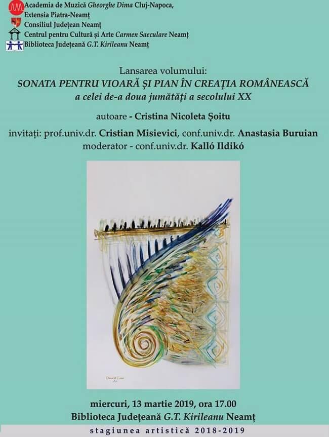 Sonata pentru vioara si pian in creatia romaneasca a celei de-a doua jumatati a secolului XX