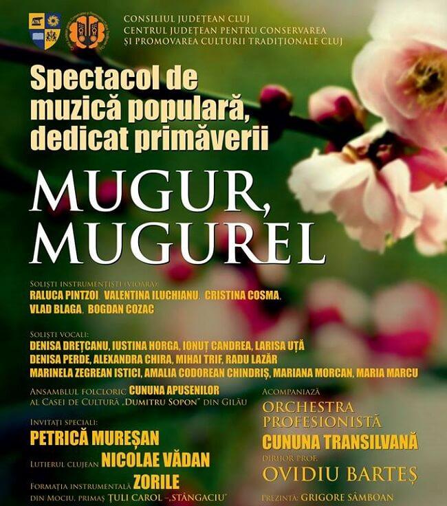 """Spectacol de Muzică Populară dedicat primăverii """"Mugur, Mugurel"""""""