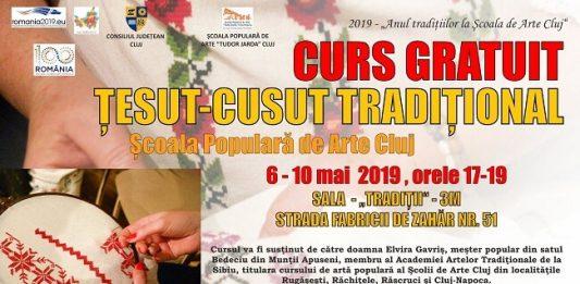 Curs Gratuit de Tesut - Cusut la Scoala Populara de Arte Cluj