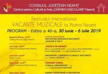 Vacante Muzicale la Piatra-Neamt - editia a XLVI-a