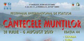 Festivalul International de Folclor Cantecele Muntilor 2019