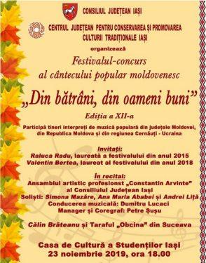 Festivalul cantecului popular moldovenesc Din batrani, din oameni buni