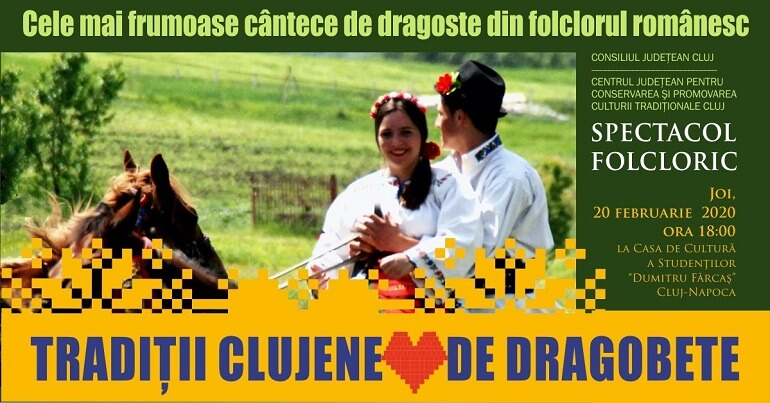 Traditii clujene de Dragobete - Spectacol Folcloric