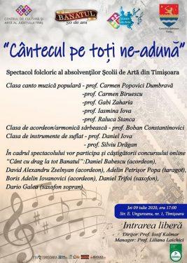 Cantecul pe toti ne-aduna - Scoala de Arta Timis